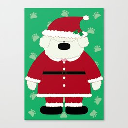 Doggy Santa Canvas Print