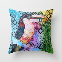 The Origin of the Aracari ( Toucan Bird Whisperer Project ) Throw Pillow