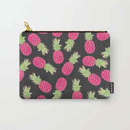 Summer Strawberry Tropical Pineapples Carry-All Pouch