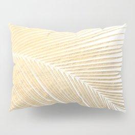 Palm leaf - gold Pillow Sham