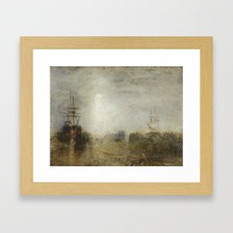 Joseph Mallord William Turner 1775–1851   Whalers (Boiling Blubber) Entangled in Flaw Ice, Endeavour Framed Art Print