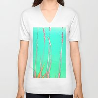 grass V-neck T-shirts featuring Grass by Anne Millbrooke