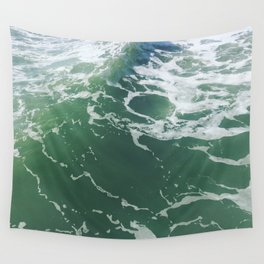 Sea Foam Green Ocean Wave Photograph Wall Tapestry