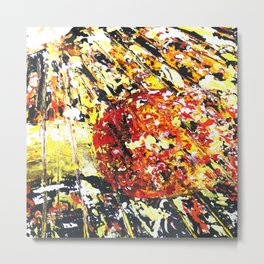 Abstract Art - Apple and Banana Metal Print