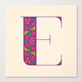 E - Amarilis Canvas Print