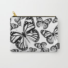 Monarch Butterflies | Monarch Butterfly | Vintage Butterflies | Butterfly Patterns | Black and White Carry-All Pouch