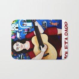 """Violeta Parra and the song """"Black wedding II"""" Bath Mat"""