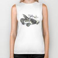 delorean Biker Tanks featuring DMC - Delorean by dareba