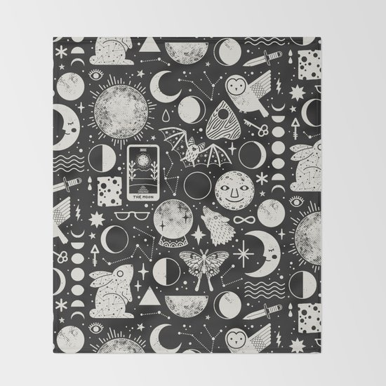 Lunar Pattern: Eclipse Throw Blanket