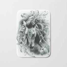 Epona the mystical horse Bath Mat