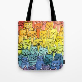the pride cat rainbow  squad Tote Bag