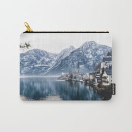 Snowy Mountain Town Carry-All Pouch