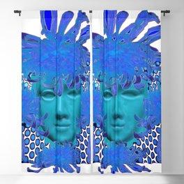 BLUE MARDI GRAS QUEEN COSTUME Blackout Curtain