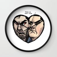 sterek Wall Clocks featuring Sterek by lolbatty