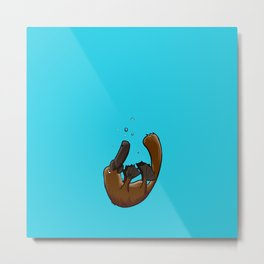 Playful Platypus Metal Print
