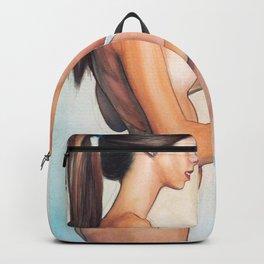 Beautiful Sexy Naked Lesbian Girls Undressing Kinky Home Decor Erotic Art  Backpack