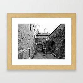 Hermannstadt walls Framed Art Print