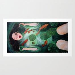 Kelsey Dylan as Ophelia Art Print