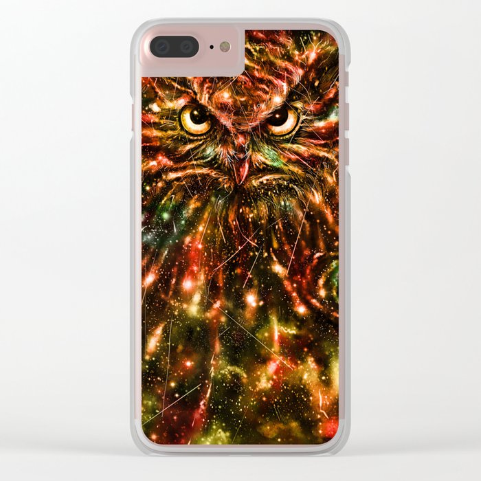 Space Owl Clear iPhone Case