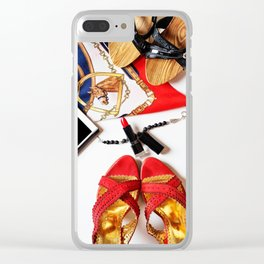 lady in red Clear iPhone Case