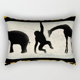 Animals on Parade Rectangular Pillow
