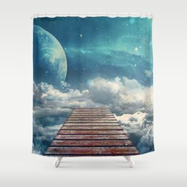 View from the pier Shower Curtain