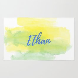 Yellow Green Watercolor Ethan Rug