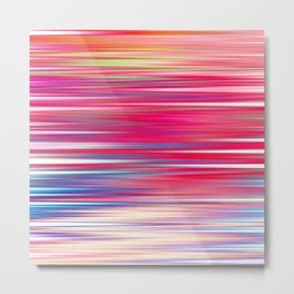 pink abstract with horizontal stripes Metal Print