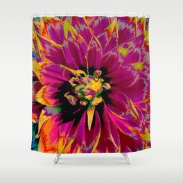 """Extreme Dahlia """"Ketchup & Mustard"""" Shower Curtain"""