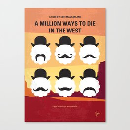 No890 My A Million Ways to Die in the West minimal movie poster Canvas Print