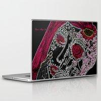 sugar skull Laptop & iPad Skins featuring Sugar Skull by Classic Mixup Art