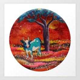 cow not boy Art Print