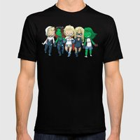 Super BFFs 2 Mens Fitted Tee Black SMALL