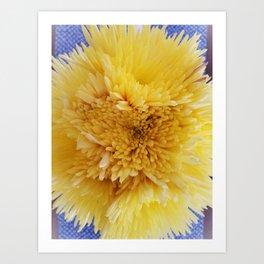 Yellow Flower Sunburst Art Print