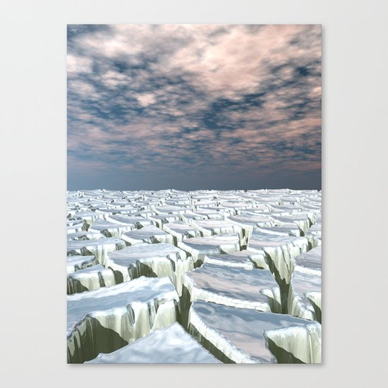 Fragmented Landscape Canvas Print