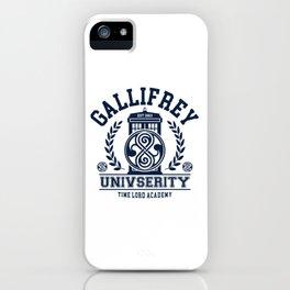 Gallifrey University iPhone Case