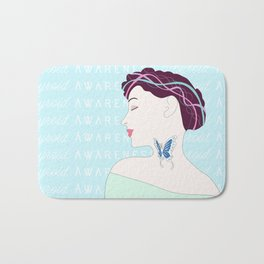 Thyroid (aka the Butterfly gland) Awareness Bath Mat