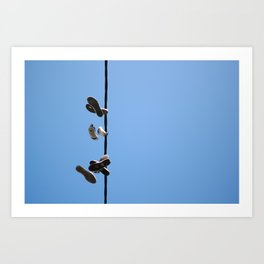 Hanging Out - Sneakers Art Print