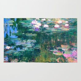 water lilies : Monet Rug
