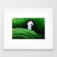 kodama Framed Art Prints featuring Kodama by Koolkarlie