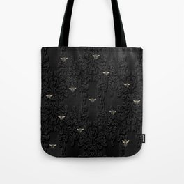 Black Bees and Lace Tote Bag