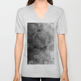Black and White Spotted3 Unisex V-Neck