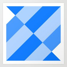 Angled Blue Art Print