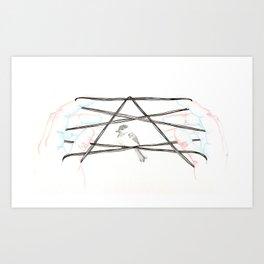 3D Cat's Cradle #2 Art Print