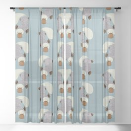 Whimsical Platypus Sheer Curtain