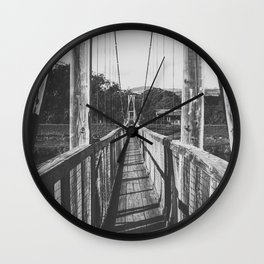 Black and White Bridge - Kauai, Hawaii Wall Clock