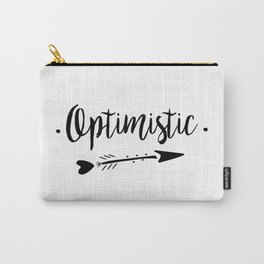 Optimistic Lettering-PM coll Carry-All Pouch