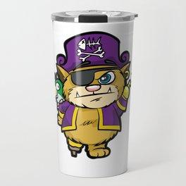 PURRATES Pirate Cat Buccaneer Sea Robber Comic Travel Mug