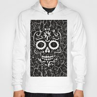 cracked Hoodies featuring Cracked SKULL by MehrFarbeimLeben