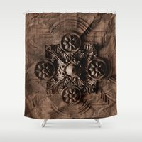 paper towns Shower Curtains featuring PAPER by ED design for fun